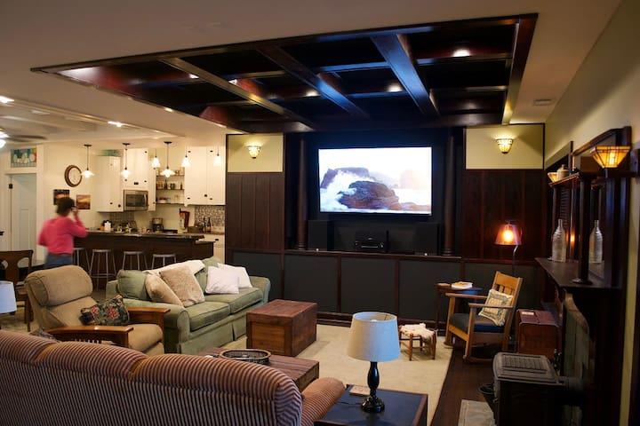 10 Foot Ceilings. 70 inch TV Free HBO
