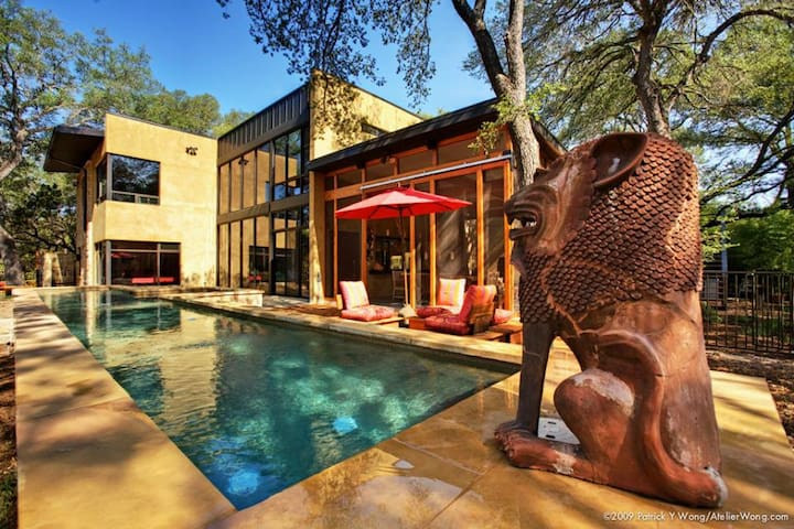 Bali Meets Austin in Artist's Loft Home