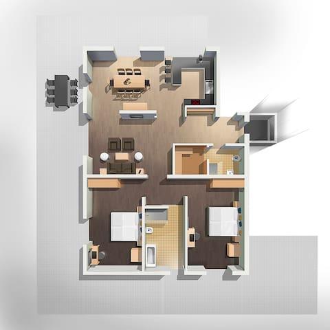 Exklusives, möbliertes 3 Zimmer Apartment.16