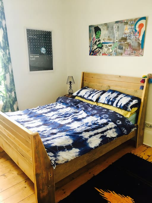 Cosy large bright room with big double bed.