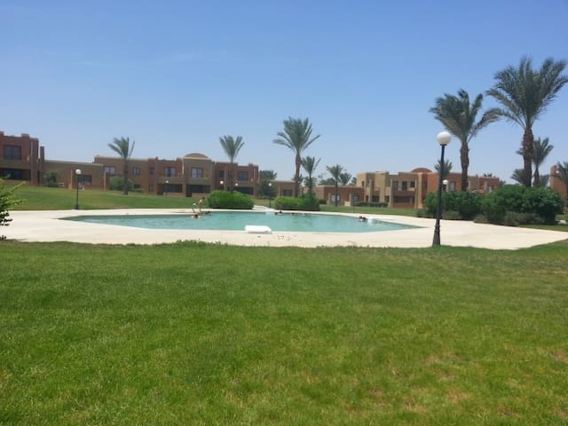 Residential area. Pool