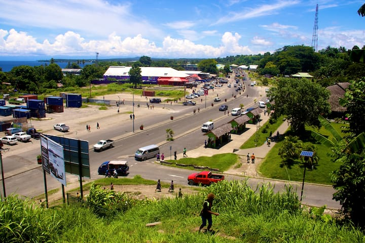 View over Kokopo Town
