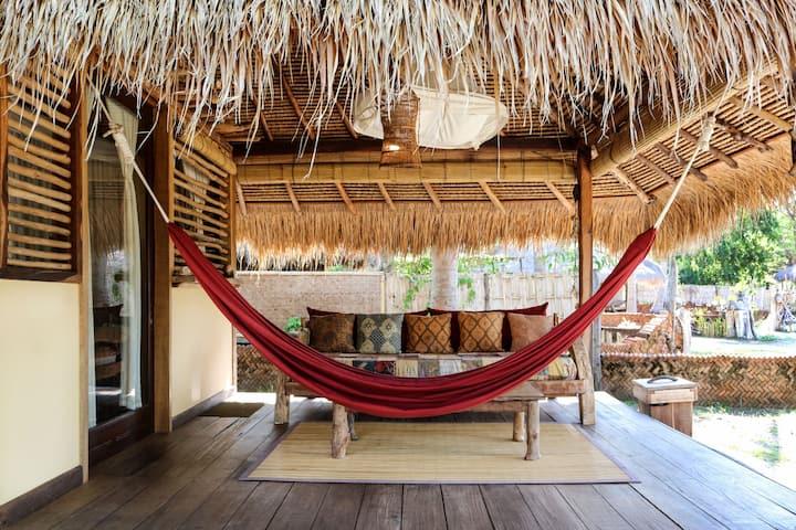 Sea View Bungalow Gili Asahan Eco Lodge Lombok
