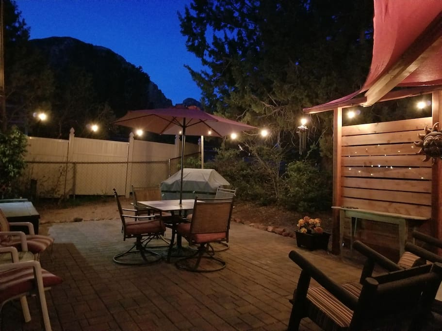 Fire up the barbecue and enjoy the patio!