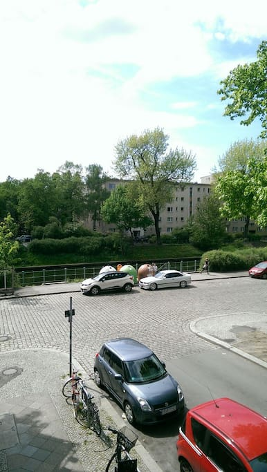 view from balcony to the canal