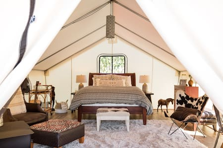 Explore the Bonsall Hills from an African-Inspired Eco Tent