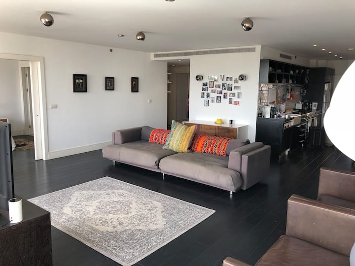 Bright large apartment on Mezizim beach