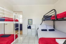 This 2 bedroom beach house is set up for families.   Our second bedroom has room for your children and a couple of friends!