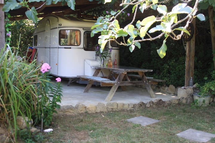 Nature, Caravan de collection, jardin privé - Mirepoix