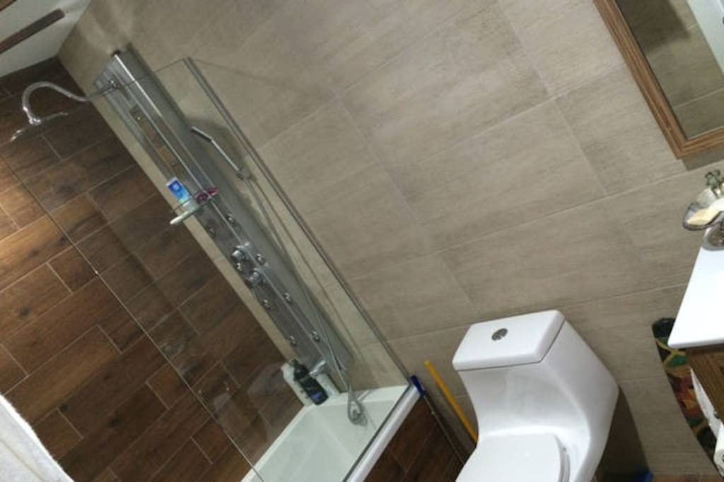 Shared shower bathroom