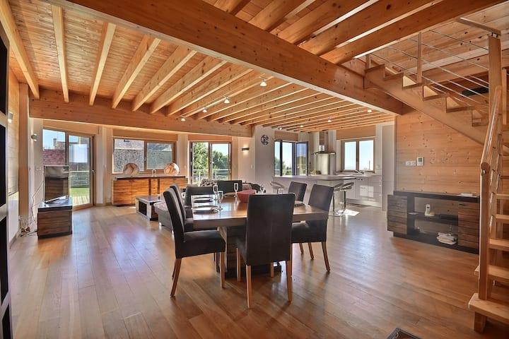 Maison bois contemporaine tout confort