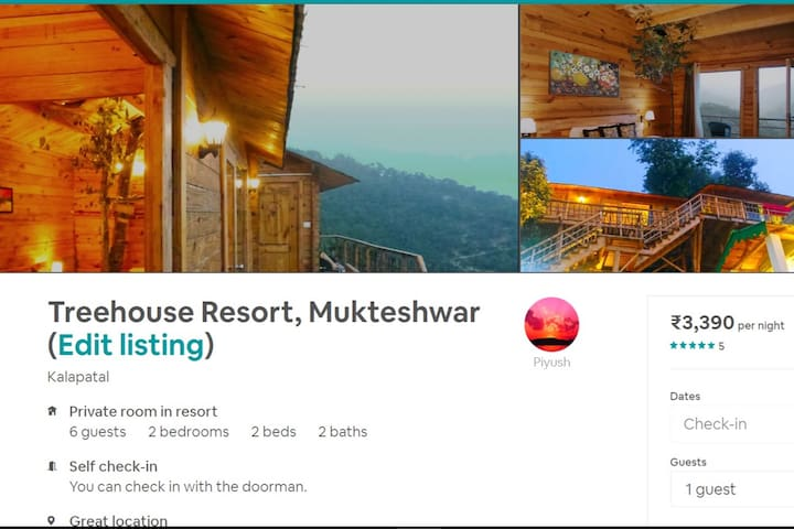 Alternate Listing of Treehouse. https://www.airbnb.co.in/rooms/25269819?s=67&shared_item_type=1&virality_entry_point=1&sharer_id=190919912