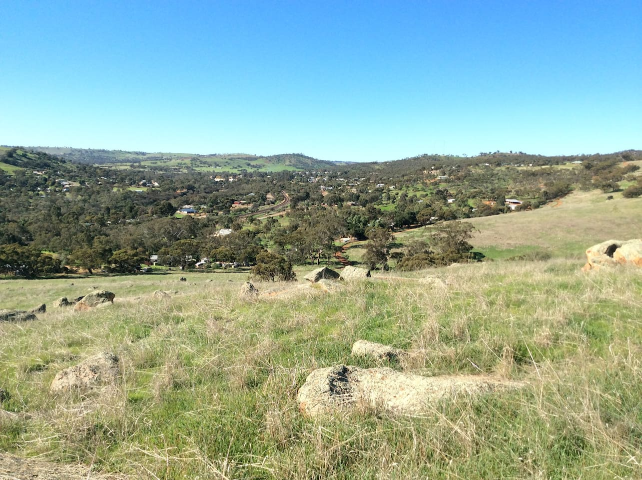 View of our valley from back paddock