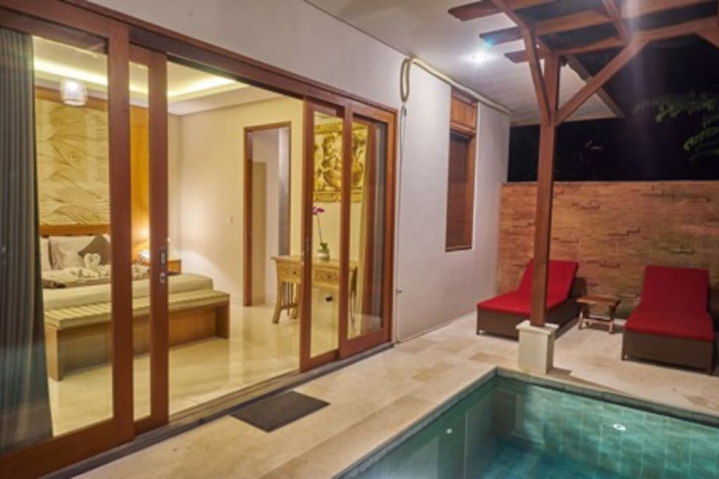 Private pool at the private villa cottage