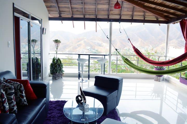 Casa Jaguar-Apartamento. - Taganga - Apartment