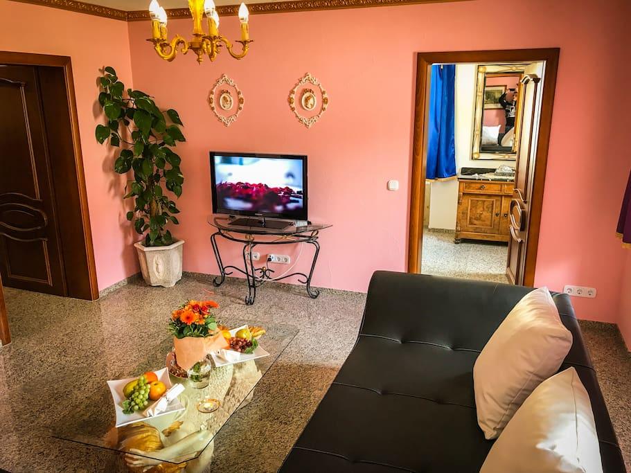 Apartment CHATEAU (66 m²) – für 4 - 6 Personen Wohnzimmer