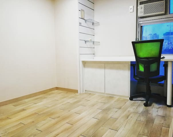 The Studio(10.33m^): - 1 Built-in Desk - 1 Chair - 1 Floor Mattress(75cmx200cm) - 1 Built-in Closet/Shoe Cupboard - 2 Glass Shelves - 1 Window - 1 Air Conditioner&1 Fan(during summer) - Floor Heating Controller - Wifi - Interphone - 3 Lights/Switches