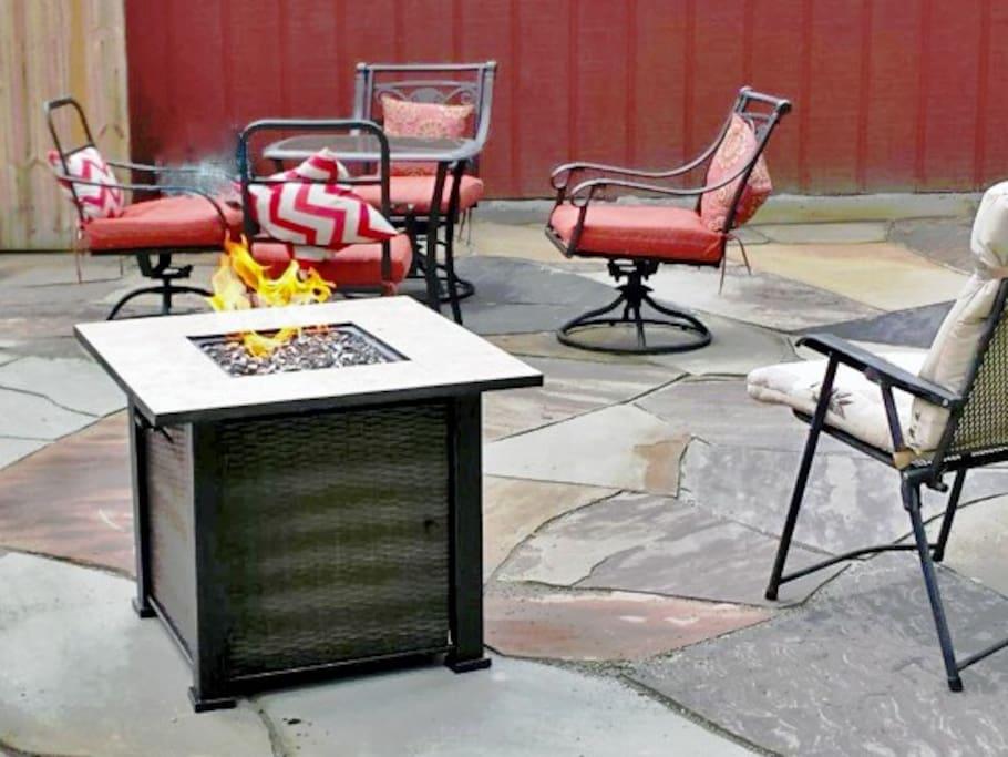 Brand new gas fire pit!