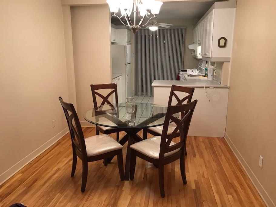 Dining room + Kitchen view