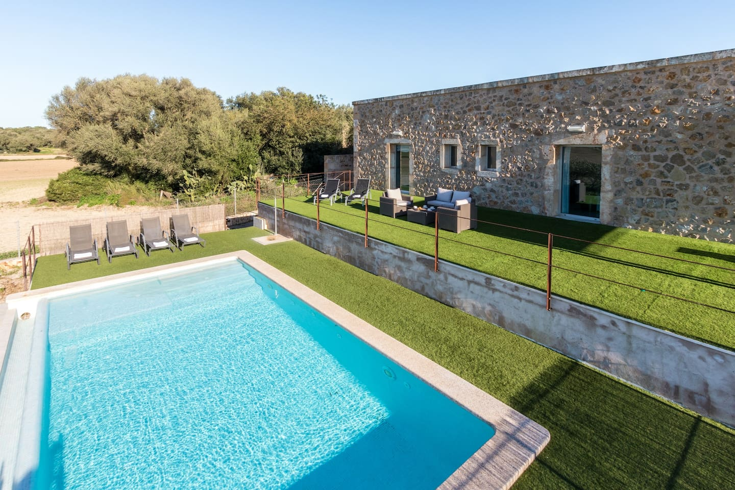 Villa, terrace and pool