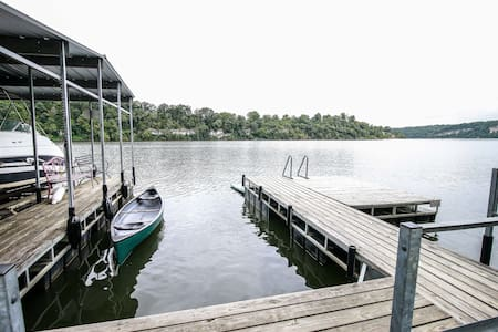 Large Lakeshore House, steps from private dock