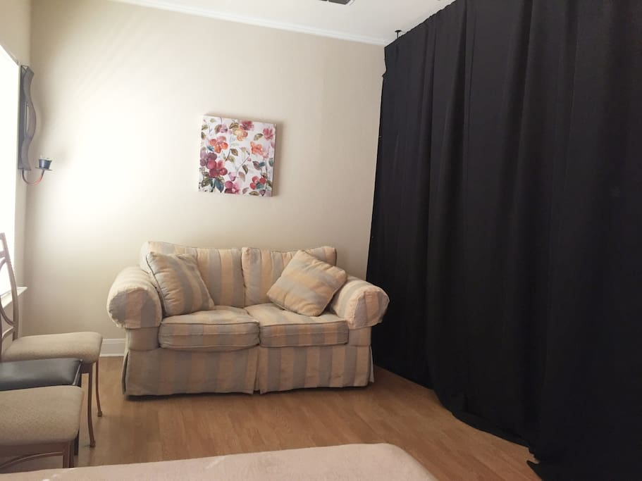 This black curtain is the 4th wall.