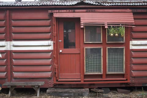 Railway carriage in the bush