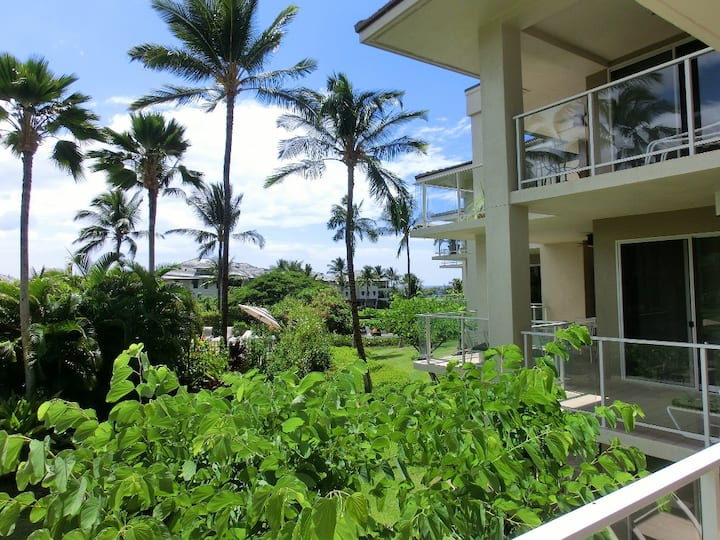 Walk to the beach! Vista Waikoloa tropical living!
