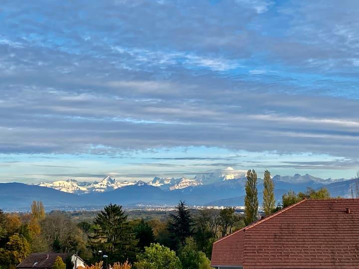Appartement vue Mont Blanc