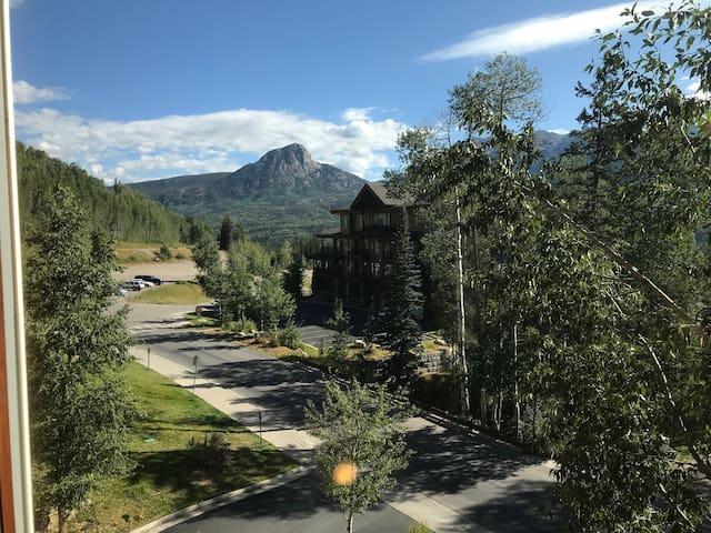 Mountain view  ski-in, ski-out condo.