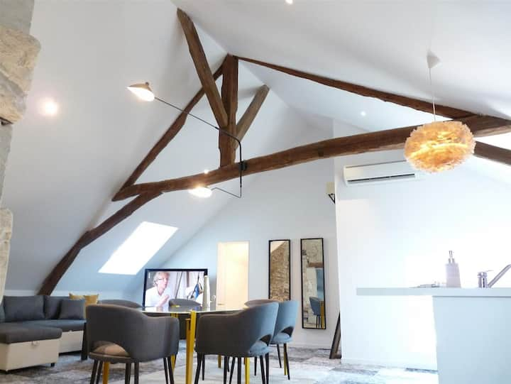 Le Manlie : Loft apt with A/C in Amboise Old Town