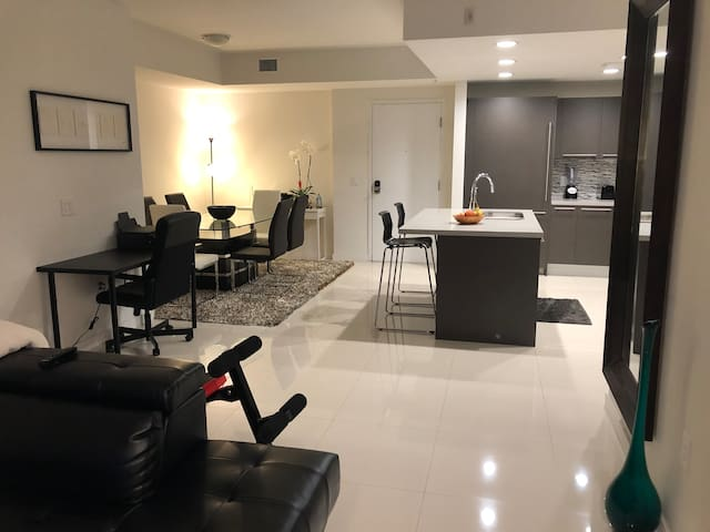 Bedroom with private bathroom located at midtown
