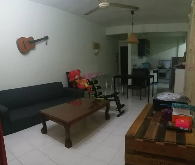 Living Hall and Kitchen
