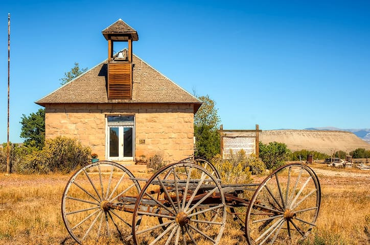 Converted Historic Schoolhouse w/ Hot Tub & Views!