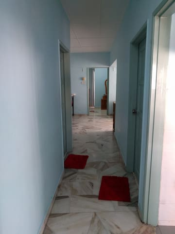 Hall way leading to bedroom