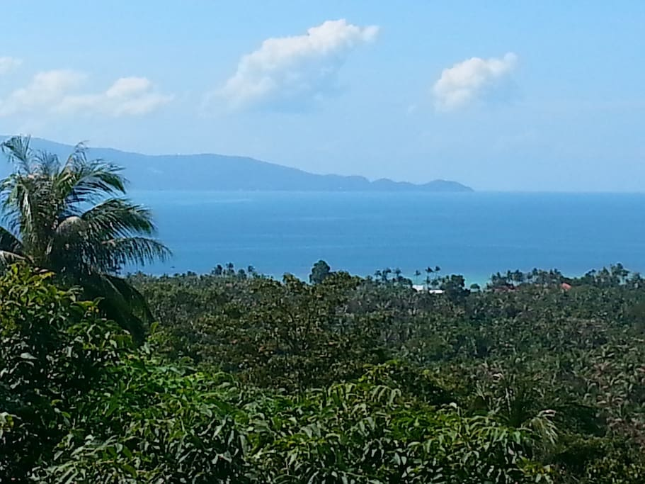 View over Baan Tai to Koh Samui from Terrace