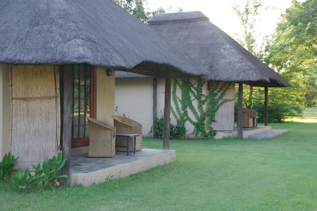 ACCOMODATION The lodge offers accommodation in 37 chalets (two beds/double bed) and in addition to that there are 23 campsites each with its own ablution block and dishwashing facilities. There is also a dedicated campsite for big groups and mobile safari operators.