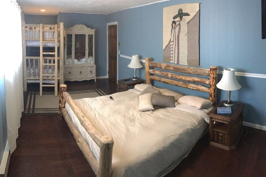 Bedroom #2 1 King, 1 Bunk Private Bath