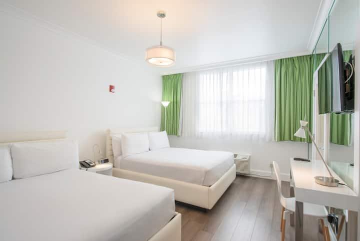 Penthouse Room-2 Queen Beds & Breakfast-Near beach