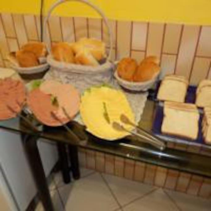 Café da manhã da Pousada Mar de Floripa