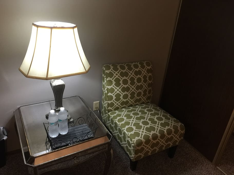 Reading Chair and Lamp