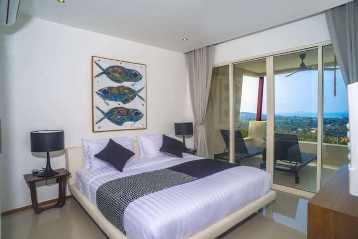 Beautiful sea view 2 Bedroom apartment, Maenam