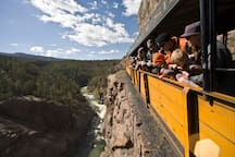 Enjoy a narrow gauge train ride (25 minutes away). Durango Silverton train ride voted one of the world's most scenic train rides!