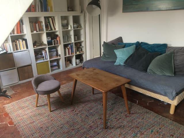 Appartement sous les toits simple et charmant