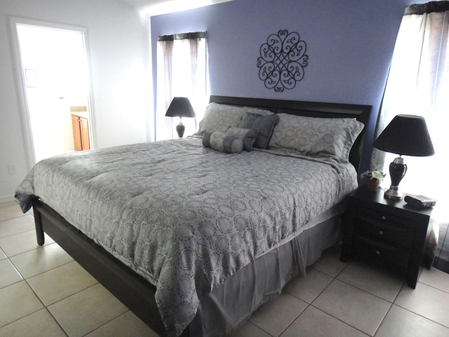 King Master Bedroom with Euro-top Mattress and Ensuite Bathroom
