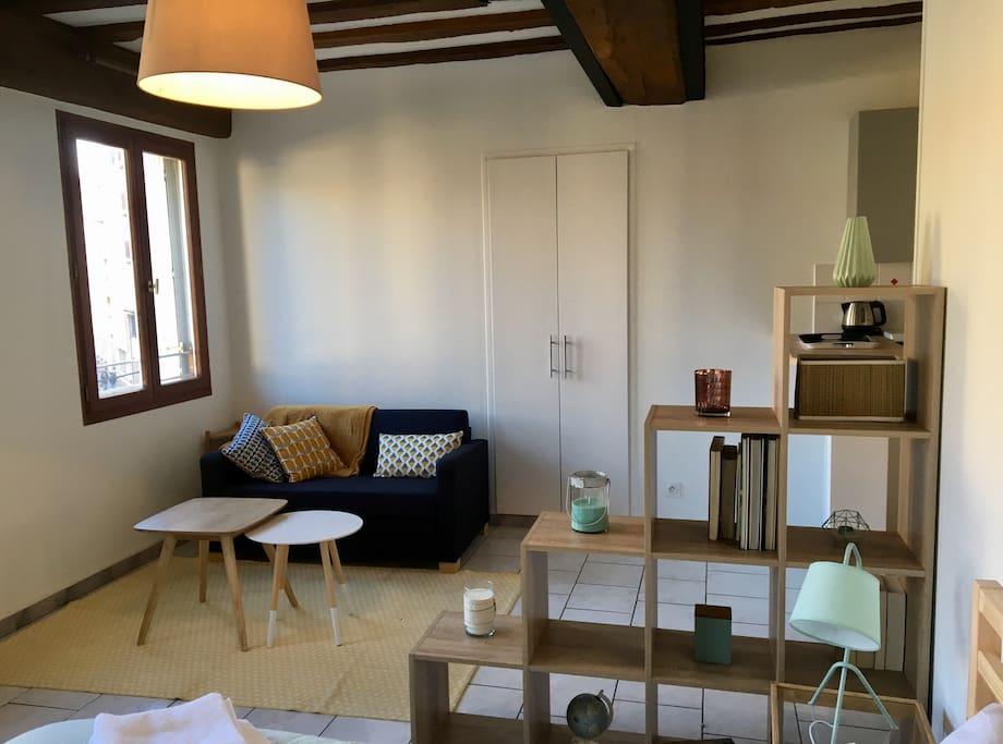 charmant studio au centre de dijon appartements louer dijon bourgogne franche comt france. Black Bedroom Furniture Sets. Home Design Ideas