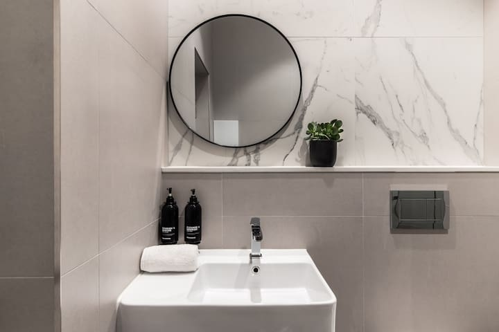 Shared bathrooms are housekept twice daily to perfection.