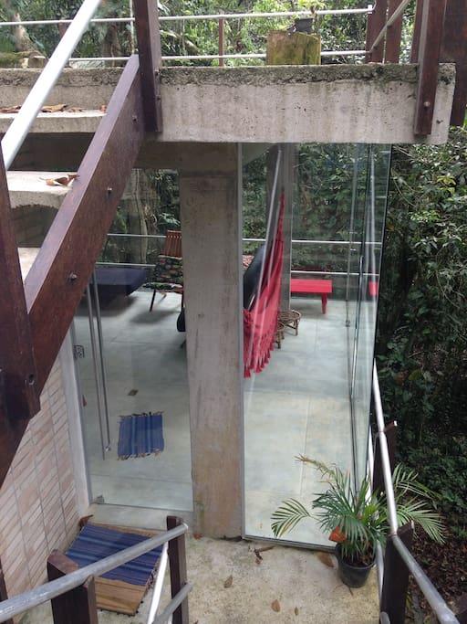 sala/cozinha vidro
