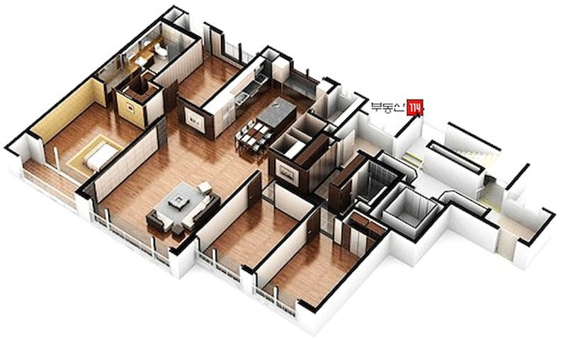 Koinonia Haus 영종도 54평+,방4,욕실2.5,침대12, 가족,교회,그룹,워크샵