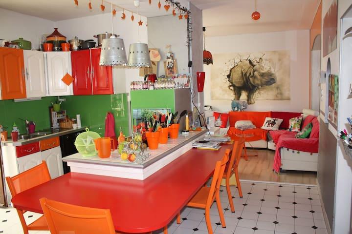 Bel appartement, calme, spacieux, et confortable - Paray-le-Monial - Wohnung